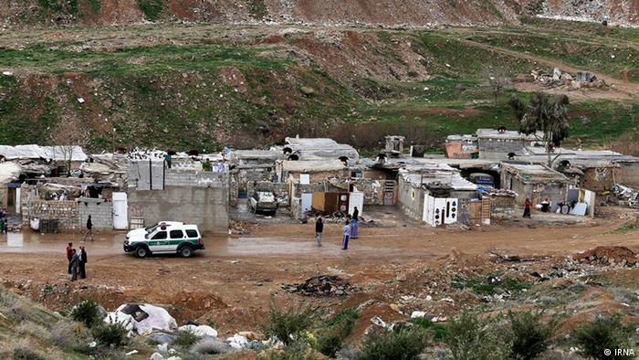 Slum am Rande der Stadt Shiraz