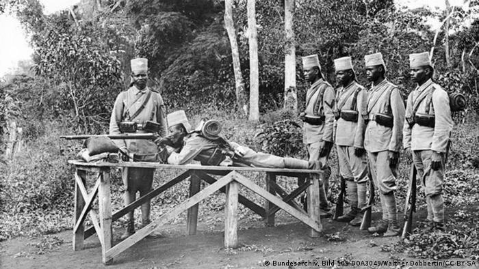 ASkara soldiers at shooting practice in German East Africa