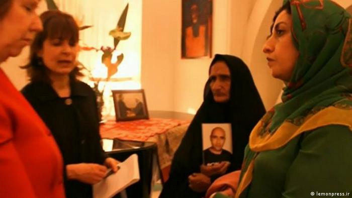 Gohar Eshghi, Mutter Sattar Beheshti und Catherine Ashton