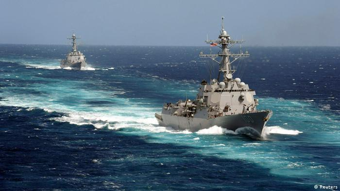 The Arleigh Burke-class guided-missile destroyers USS Kidd and USS Pinckney have been searching for the missing Malaysian airliner.