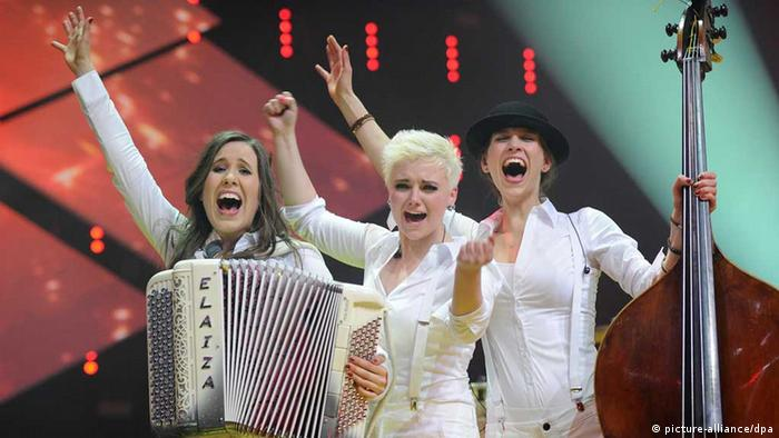 German band Elaiza at the national song contest that sent them to Eurovision 2014, Copyright: dpa - Bildfunk
