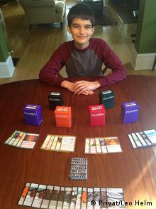 A young player -Leo Helm while testing the Phylo game (Photo: Privat/Leo Helm)