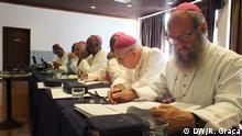 Angolanischen Bischöfe im Haus der CEAST 3. Fotograf: Ramuse Graça 4. Wann wurde das Bild gemacht: 14.03.2014 5. Wo wurde das Bild aufgenommen: São Tomé e Príncipe 6. Schlagwörte: