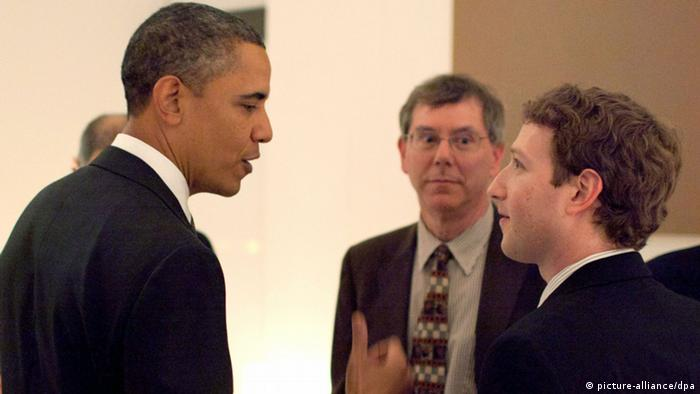Barack Obama und Mark Zuckerberg