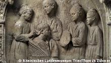 Relief auf einem römischen Grabmal in Trier