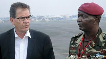 German Development Minister Gerd Müller in Bangui