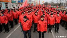 Russland Moskau Protest Marsch Antikriegsdemonstration Demo