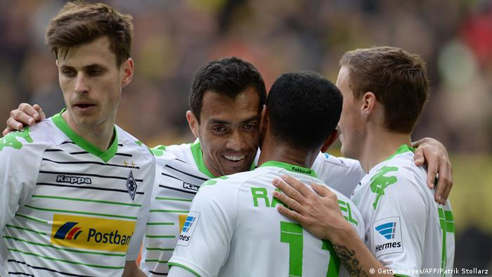 Moenchengladbach players celebrate