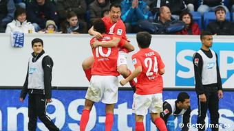 Mainz players celebrate