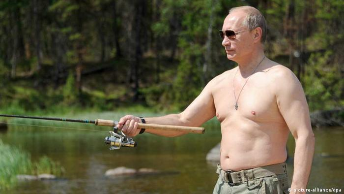 Wladimir Putin / Angeln / Angel / Russland