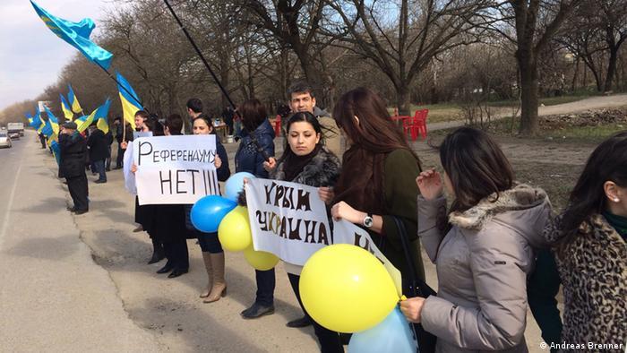 Кримськотатарсьакі активісти, акції протесту в Криму