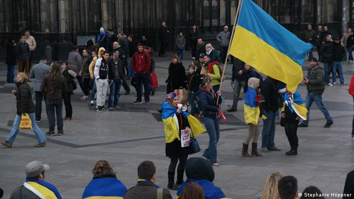Protest against Crimean referendum in Cologne (Photo: Stephanie Höppner / DW)
