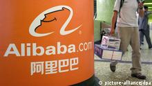 ARCHIV - Das Logo der Alibaba Gruppe, aufgenommen am 05.11.2007 in Hongkong. Die chinesische Online-Handelsplattform Alibaba hat am 16.03.2014 einen Börsengang in den USA angekündigt. EPA/YM (zu dpa 0135 vom 16.03.2014) +++(c) dpa - Bildfunk+++