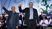 Referendum auf der Krim Jubel Sergei Aksyonov