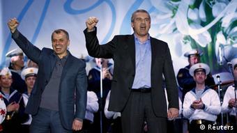 Sergej Aksjonow jubelt (Foto: REUTERS/David Mdzinarishvili)