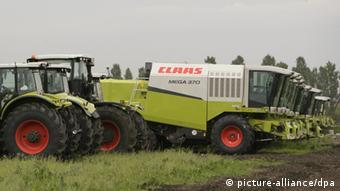Deutsche Traktoren in Russland (Foto:dpa)