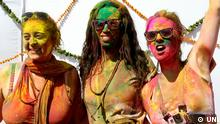 Holi Fest in Indien 2014