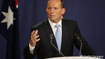 Australian Prime Minister, Tony Abbott speaks to media at the Commonwealth Parliamentary Offices during a joint press conference on February 7, 2014 in Sydney, Australia (Photo: Brendon Thorne/Getty Images)