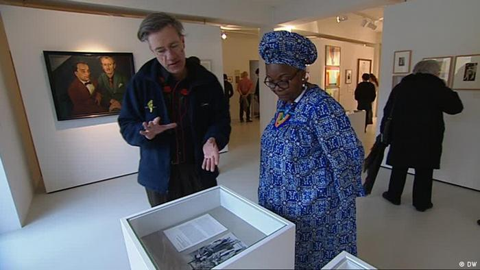 Alice Nkom in a Gay museum in Berlin