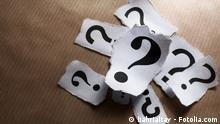 Symbolbild zu viele Fragen