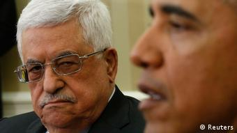 Palästinenser-Präsident Mahmud Abbas bei Barack Obama in Washington (Foto: Reuters)
