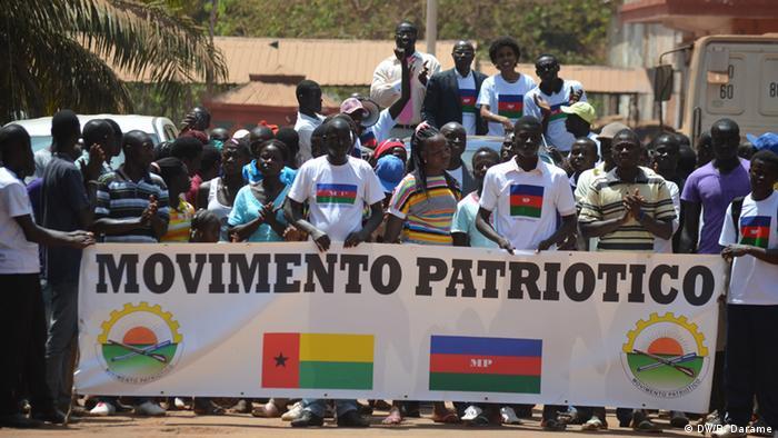 Unterstützer der Partei Movimento Patriótico