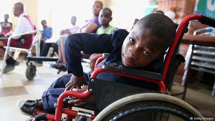 Young boy in a wheelchair in South Africa (Photo: Chris Jackson)