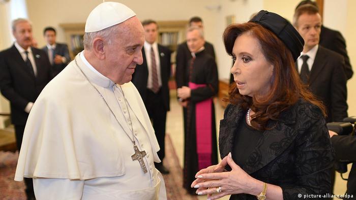 Papst Franziskus und Fernandez de Kirchner