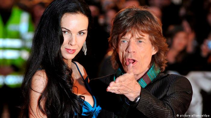 L'Wren Scott und Mick Jagger (Foto: picture-alliance/dpa)