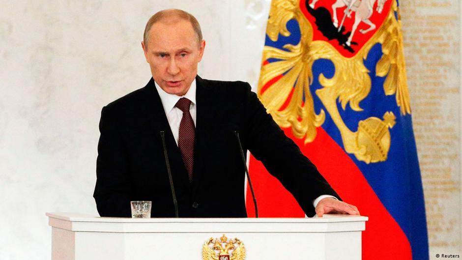 Putin afirma que Crimeia sempre foi parte da Rússia e assina incorporação | DW | 18.03.2014