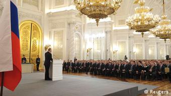 Putin spricht am 18.03.2014 im Kreml zur Lage in der Ukraine (Foto: rtr)