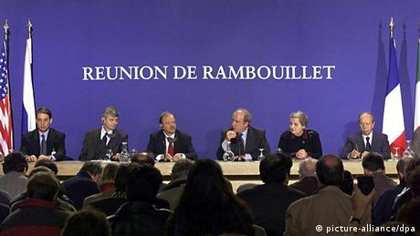 Bildergalerie Kosovo Krieg 15 Jahre 20.02.1999 Rambouillet