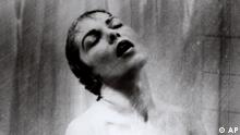 ** FILE **This undated photo shows actress Janet Leigh in the shower scene in Alfred Hitchcock's 1960 classic thriller Psycho. A British auction house says it is selling the heart-stopping score to Alfred Hitchcock's Psycho. (AP Photo/File, HO)