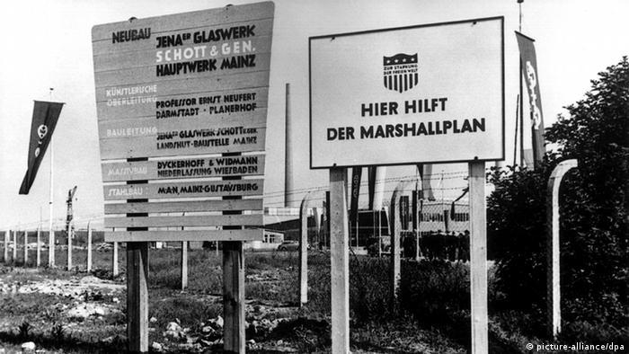 Symbolbild Deutschland Wiederaufbau Nachkriegszeit Marshallplan