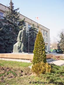 A Lenin statue in Comrat, Moldova