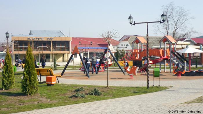 A colorful playground in Moldova