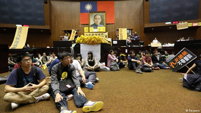 Taiwan Parlament Erstürmung 19.03.2014
