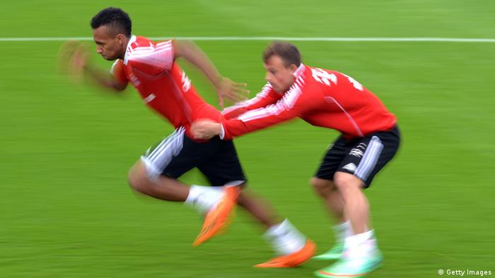 Julian Green beim Training des FC Bayern. Foto: Getty Images