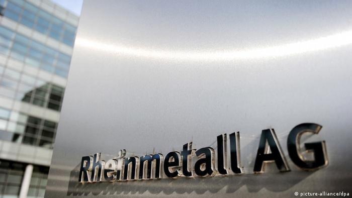 Вывеска концерна Rheinmetall AG