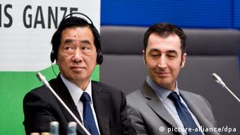 Pressekonferenz Naoto Kan und Cem Özdemir am 18.03.2014 Berlin