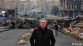 Dr. Otto Hieber on the Maidan in Kyiv