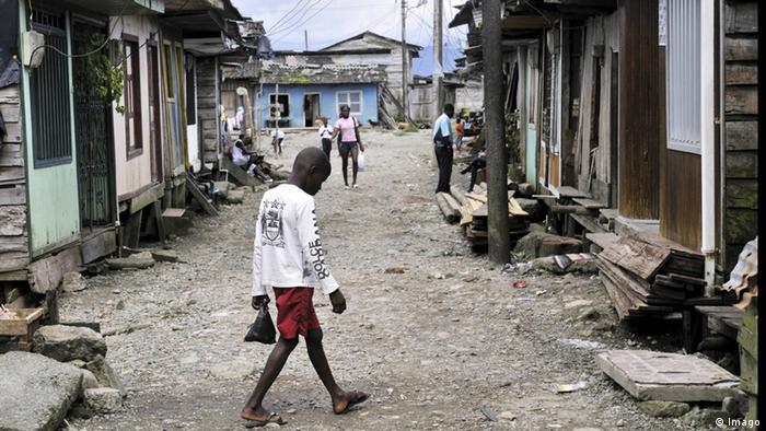 Armenviertel Bajamar, Buenaventura, Valle del Cauca, Kolumbien
