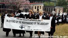 Swasiland Menschenrechte Protest