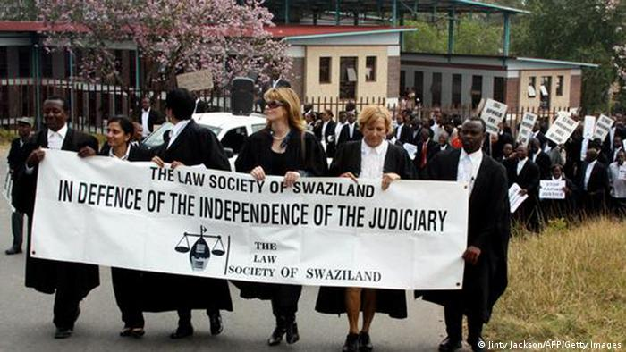 Swaziland rights Protest