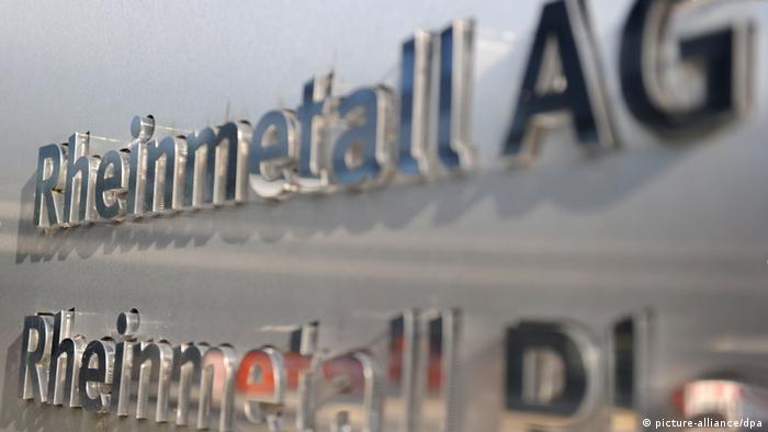 Das Logo von Rheinmetall am Firmensitz in Düsseldorf (Foto.dpa)