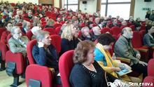 Teilnehmer des Antikriegs-Kongresses von russischen Intellektuellen Copyright: Yulia Semenova, DW.