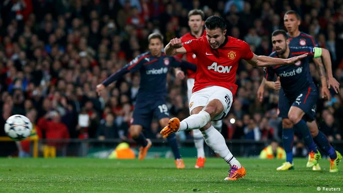 Champions League Manchester United Olympiacos FC Robin van Persie