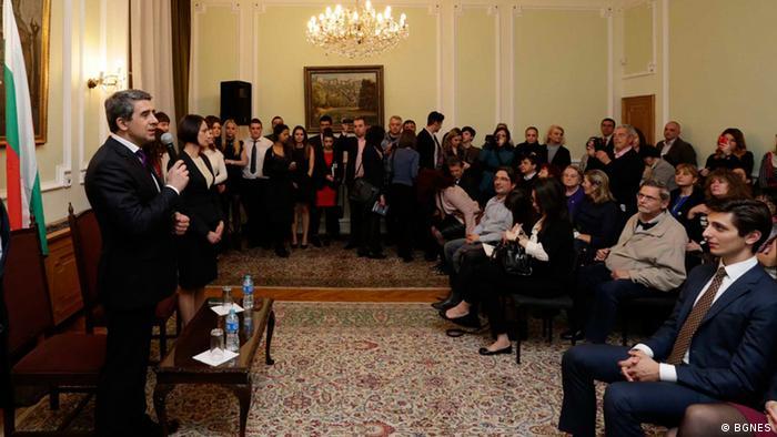 Präsident Rossen Plevneliev Bulgarien in London