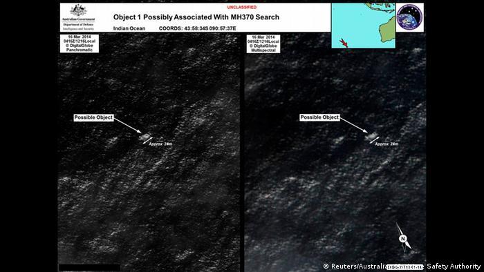Malaysia Suche Australien Satellitenaufnahme 20.03.2014