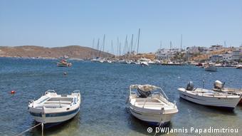 Лодки у греческого острова